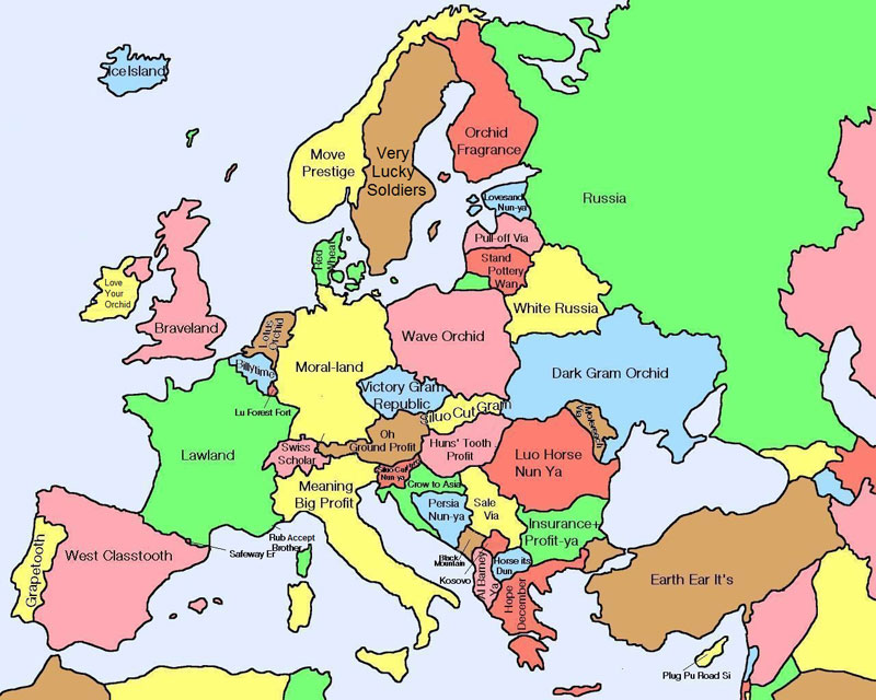 Pictures that make you lol - Page 9 Literal-map-of-europe-by-chinese-name