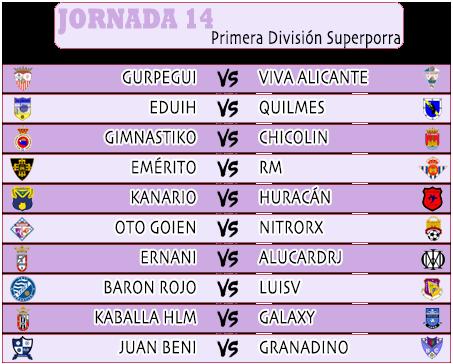:: Pronósticos Jornada 14 (23-24 Noviembre) :: JORNADA14PRIMERA2020