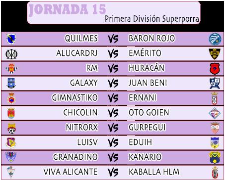 :: Pronósticos Jornada 15 (30 Nov - 1 Dic) :: JORNADA15PRIMERA2020