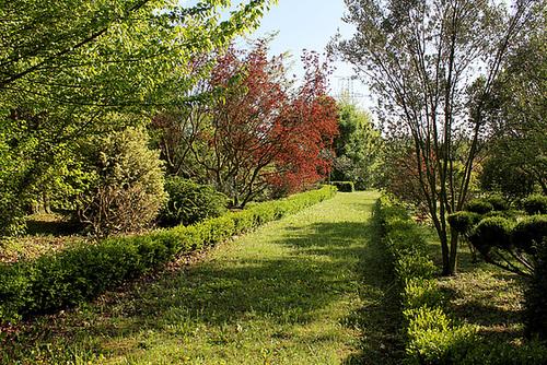 Une allée du Jardin des Sables
