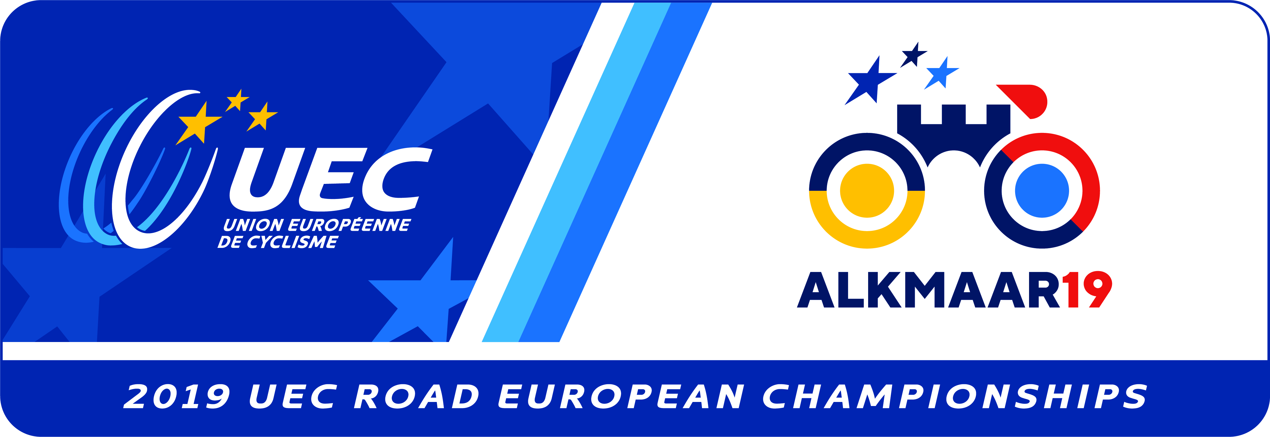 Championnats d'Europe 2019 UEC-ALKMAAR19-EVENT-BOX-LOGO-CMYK