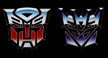 Transformers: Masterpiece  Vs  G1  - Optimus Prime Vs Megatron Transformers_Logo2