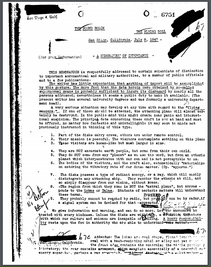 A memorandum of importance (En-Fr) 111