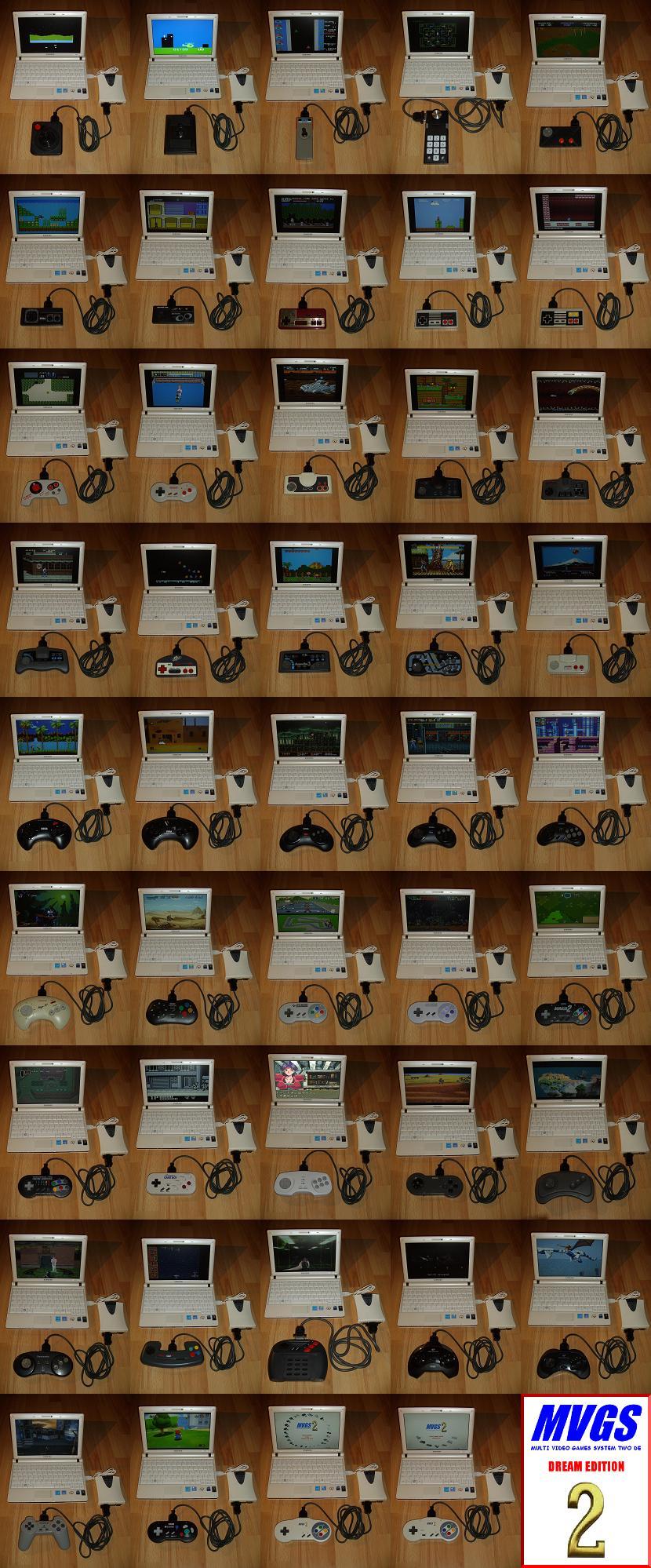 Les manettes de jeu universelles Multi-Video-Games-System-Two Ensemble-Pads-MVGS2