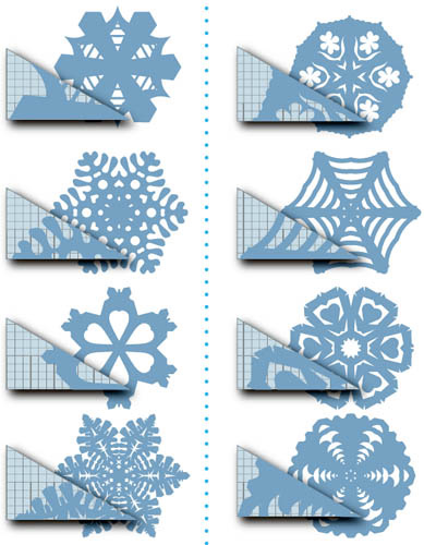 Снежинки из бумаги Sxema-snezhinok-iz-bumagi