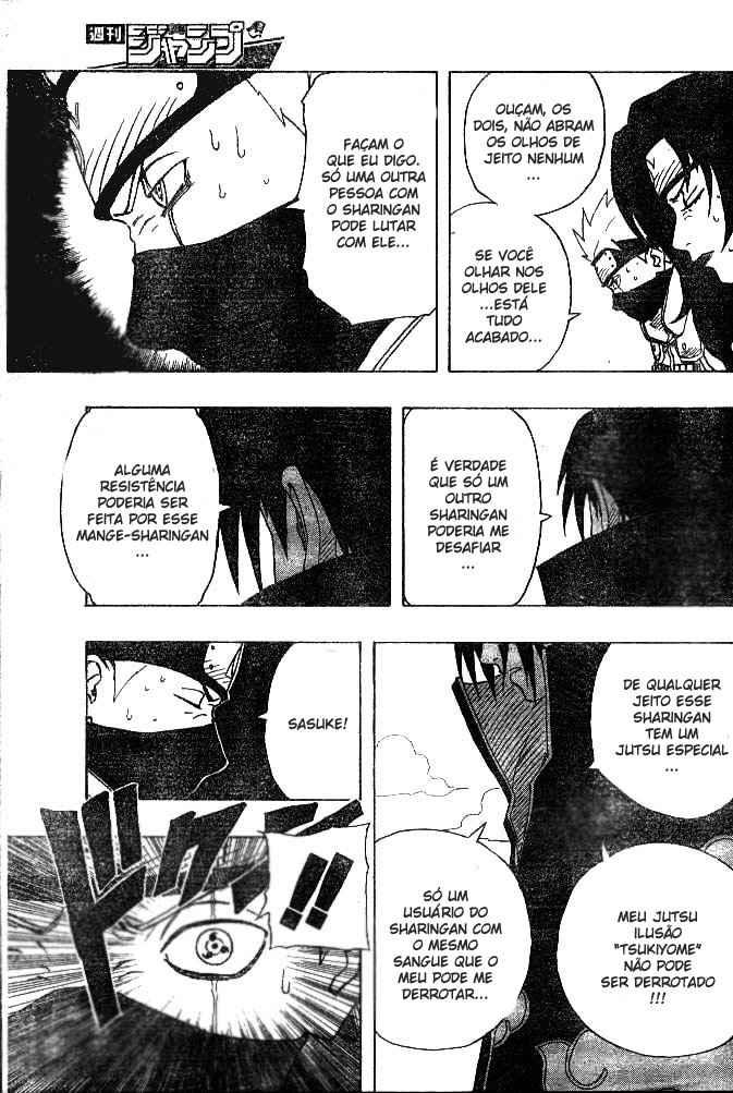 Qual nivel de imunidade do Byakugan e Rinnegan em relação às técnicas do Sharigan? 15