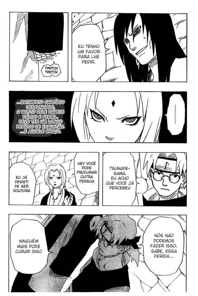Tsunade poderia curar os braços do Orochimaru? 17