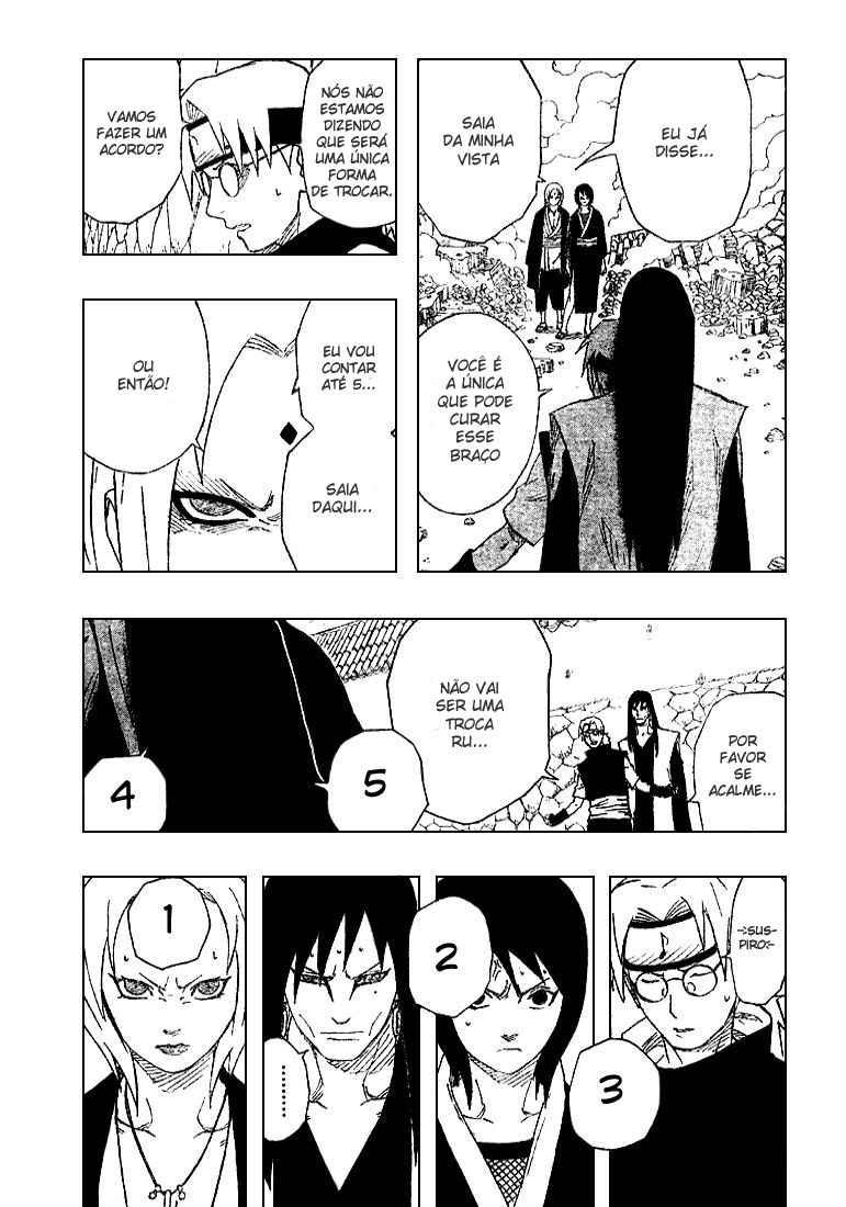 Tsunade poderia curar os braços do Orochimaru? 09