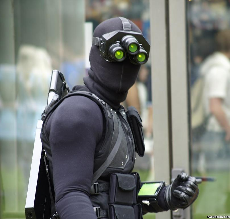 Comic-con i Cosplay Sam-fisher