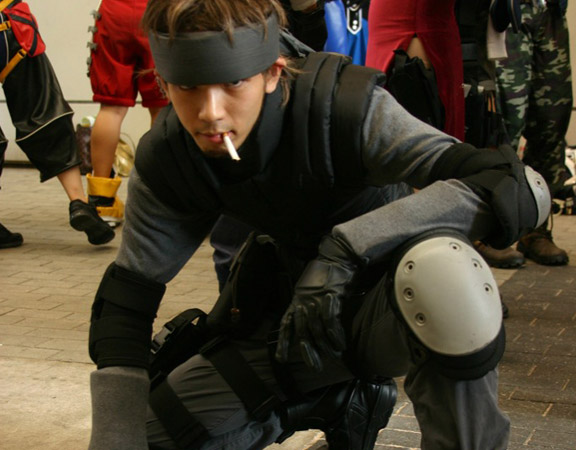Comic-con i Cosplay Solid-snake