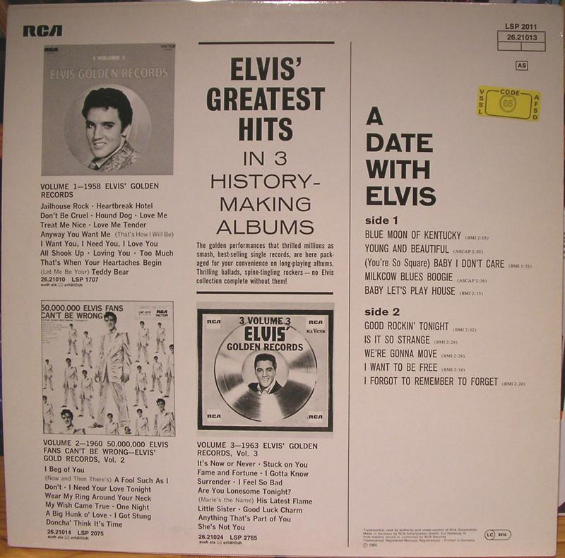 A DATE WITH ELVIS 12622780xn