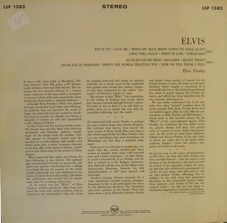 ELVIS 12668257ww