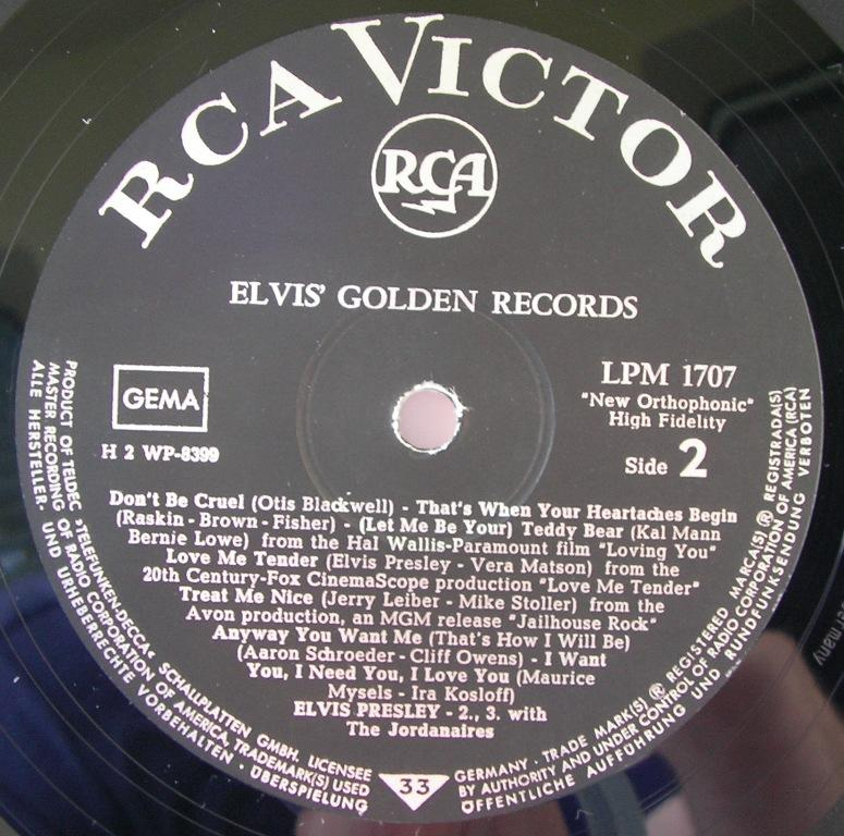ELVIS' GOLDEN RECORDS 12992902vx