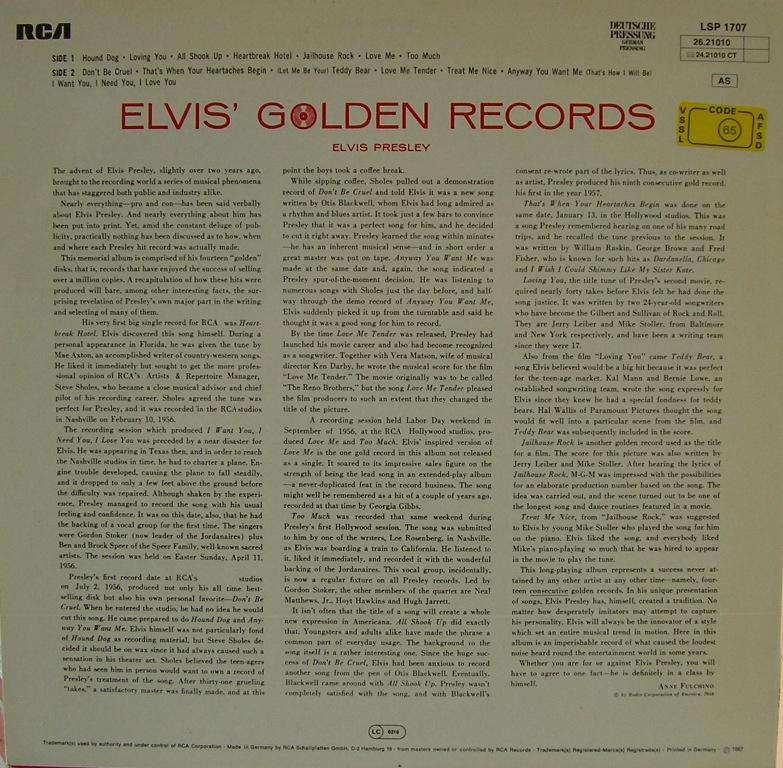 ELVIS' GOLDEN RECORDS 12993091mp