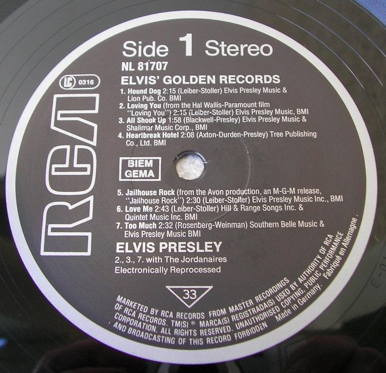 ELVIS' GOLDEN RECORDS 12993162ud
