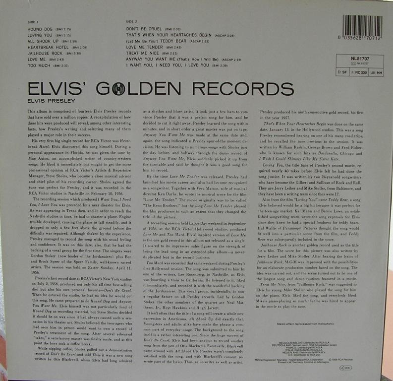 ELVIS' GOLDEN RECORDS 12993242ub