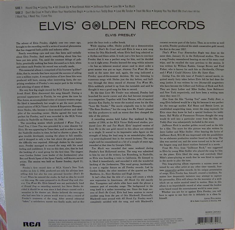 ELVIS' GOLDEN RECORDS 12993307fi