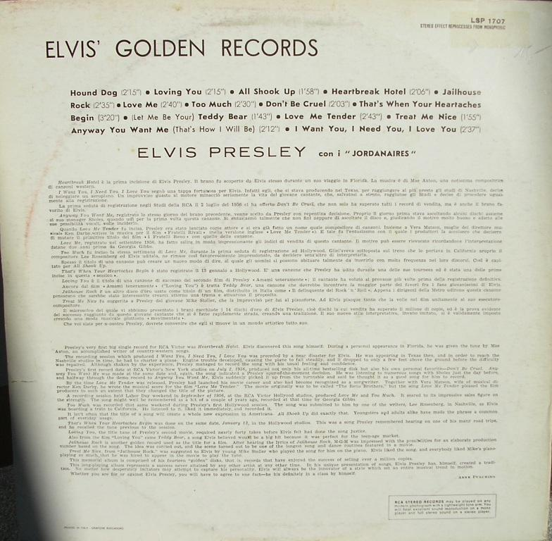 ELVIS`GOLDEN RECORDS  12994232dm