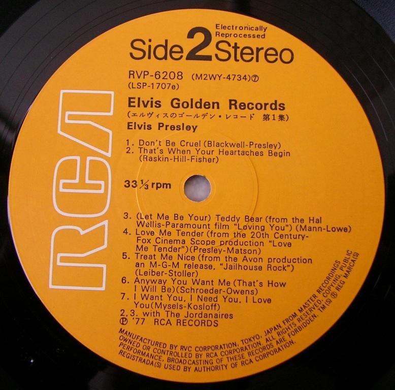 ELVIS`GOLDEN RECORDS 13108762rt