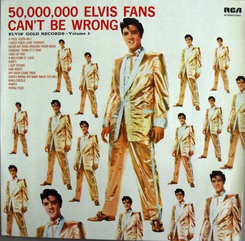 ELVIS' GOLD RECORDS VOL. 2 - 50.000.000 ELVIS FANS CAN´T BE WRONG 13564639jd