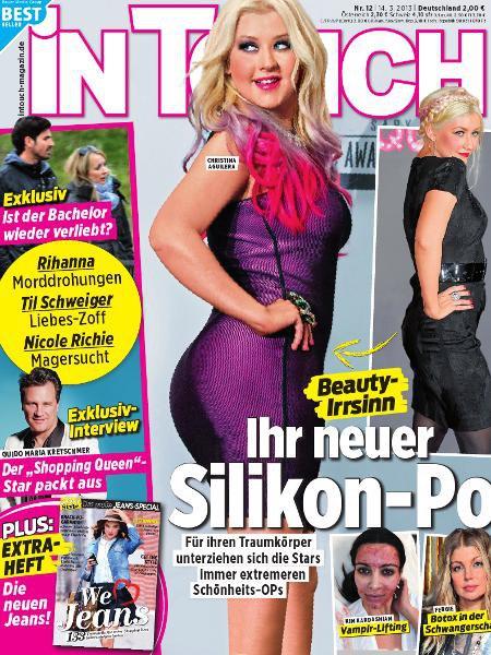 Christina  en la portada de la revista inTouch alemán 13751896if