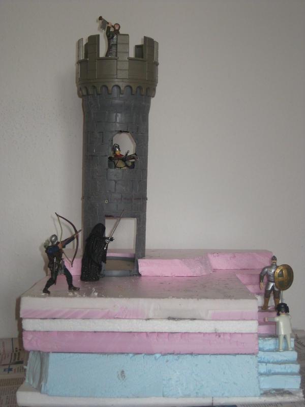 Regenabflussrohr wird zum Turm 15357449oy