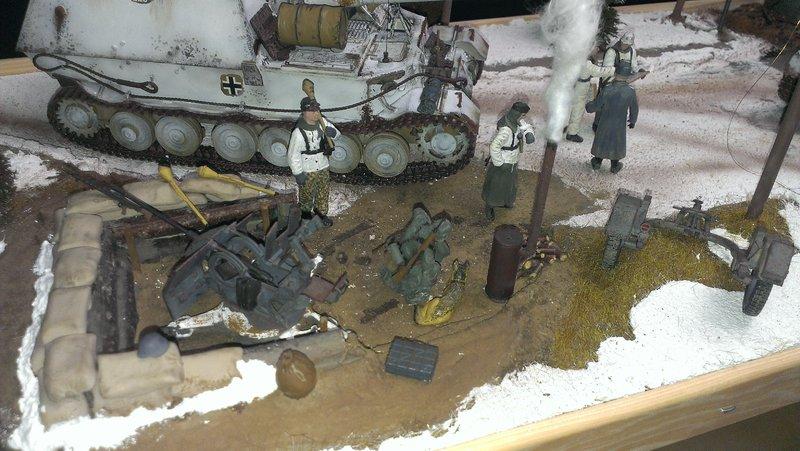 Winterdiorama Niederschlesien Februar 1945 19703125nj