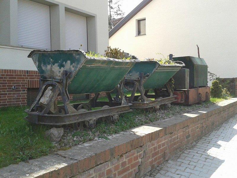 Denkmalzug vor dem Kalkwerk Hastenrath, nähe von Stolberg. 21697182xs