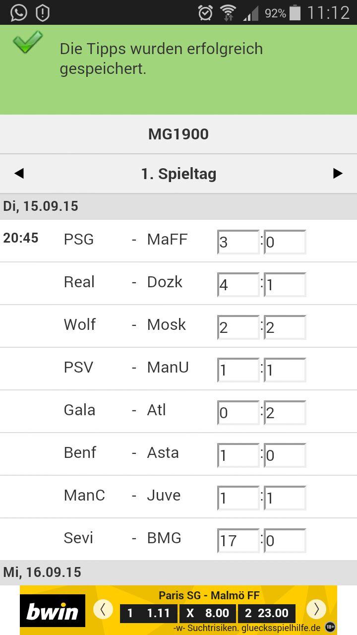 CL-Gruppenphase 2015, 1. Gruppenspiel: FC Sevilla - Borussia Mönchengladbach 23111154in