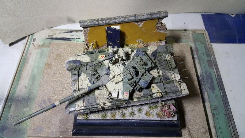 """Diorama 1:35 """"Der einsame T-90"""" 23674318nn"""