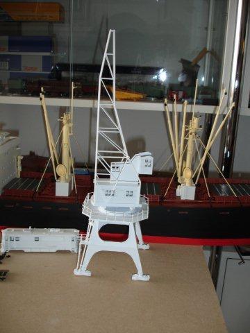 Baustufenbilder eines Hafenkran in H0 27934804gj