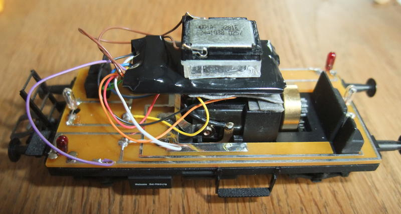 Umbau Brawa KLv 60.9001 Fahrleitungs-Messwagen mit Sounddecoder 29614039gq
