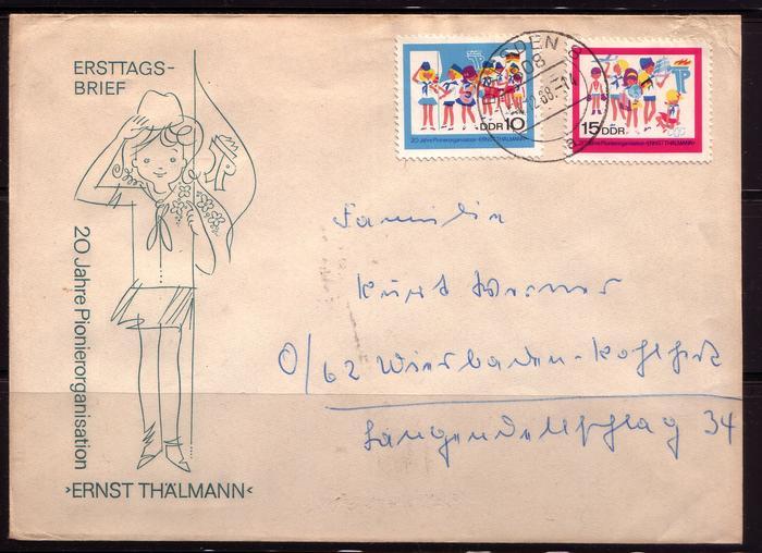 Schöne Briefe und Belege der DDR 2995881