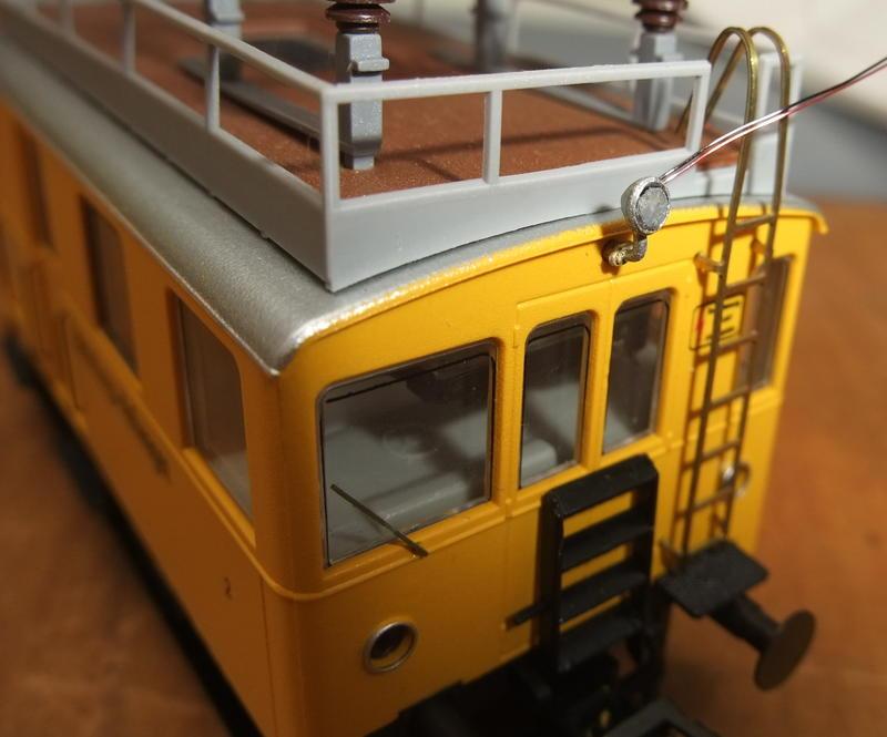 Umbau Brawa KLv 60.9001 Fahrleitungs-Messwagen mit Sounddecoder 30022445lq