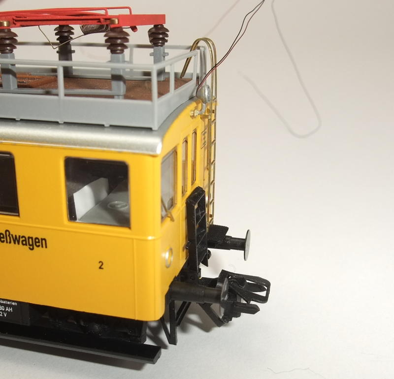 Umbau Brawa KLv 60.9001 Fahrleitungs-Messwagen mit Sounddecoder 30022446cd