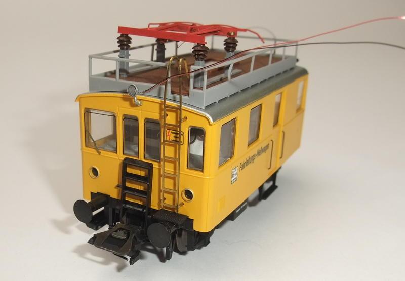 Umbau Brawa KLv 60.9001 Fahrleitungs-Messwagen mit Sounddecoder 30022447rs