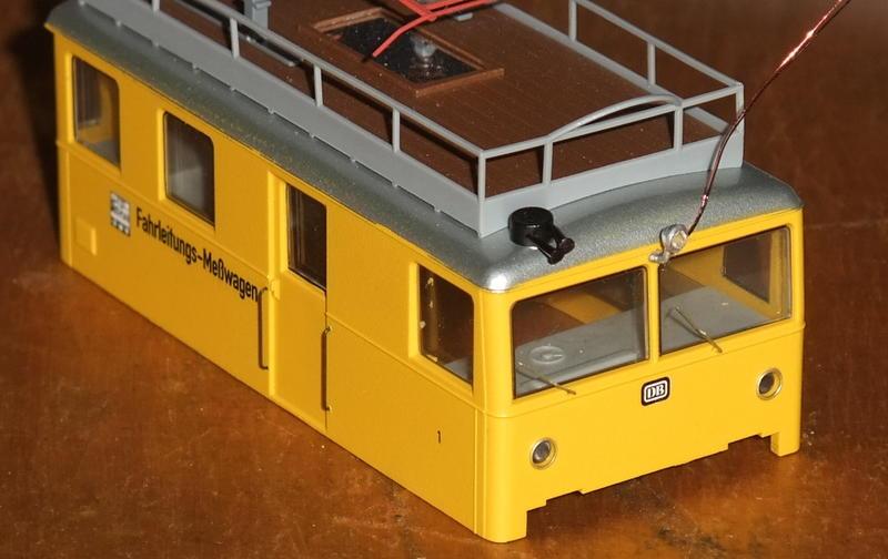 Umbau Brawa KLv 60.9001 Fahrleitungs-Messwagen mit Sounddecoder 30031271ol
