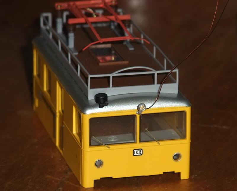 Umbau Brawa KLv 60.9001 Fahrleitungs-Messwagen mit Sounddecoder 30031272mg