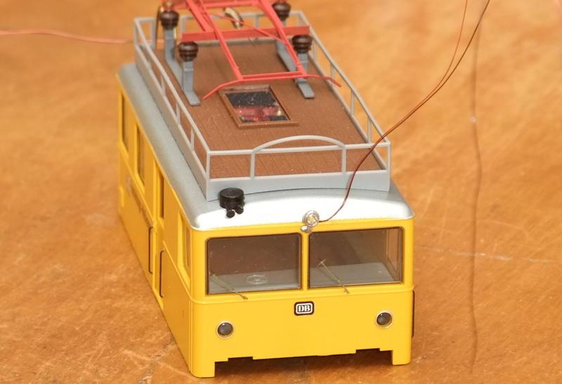 Umbau Brawa KLv 60.9001 Fahrleitungs-Messwagen mit Sounddecoder 30031273co
