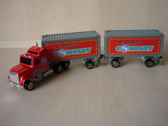 N°607 Ford + Semi Bi-Train Container  ( version lisse ) 3020399