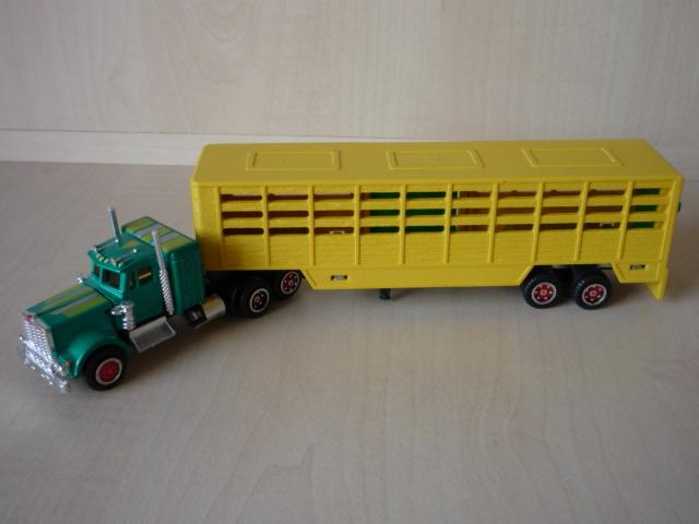 N°614 KENWORTH W900 + SEMI TRANSPORT D'ANIMAUX  3020716