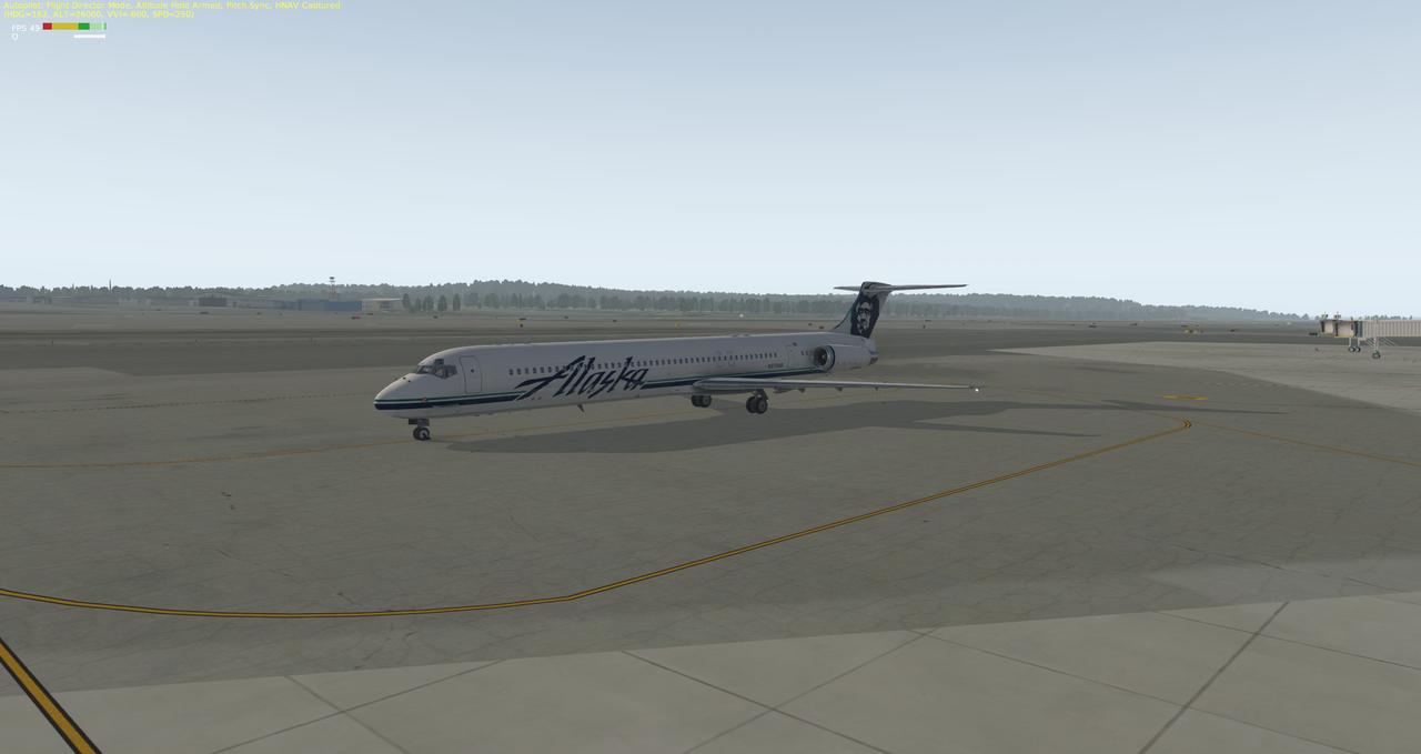 Mit der Default MD-82 von Anchorage nach Ketchikan 33962338gm