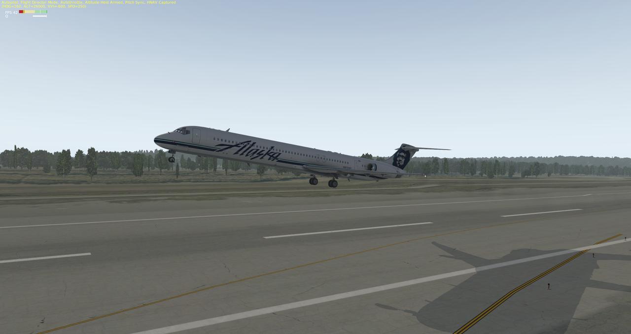 Mit der Default MD-82 von Anchorage nach Ketchikan 33962340rg