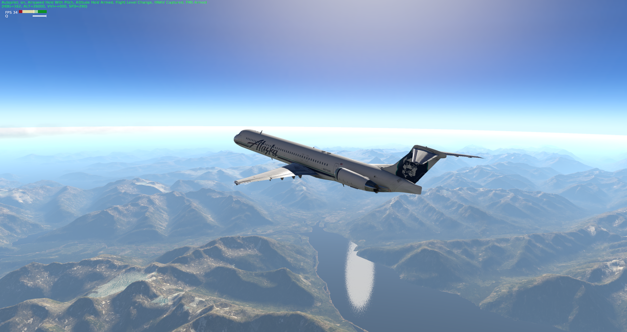 Mit der Default MD-82 von Anchorage nach Ketchikan 33962349nu