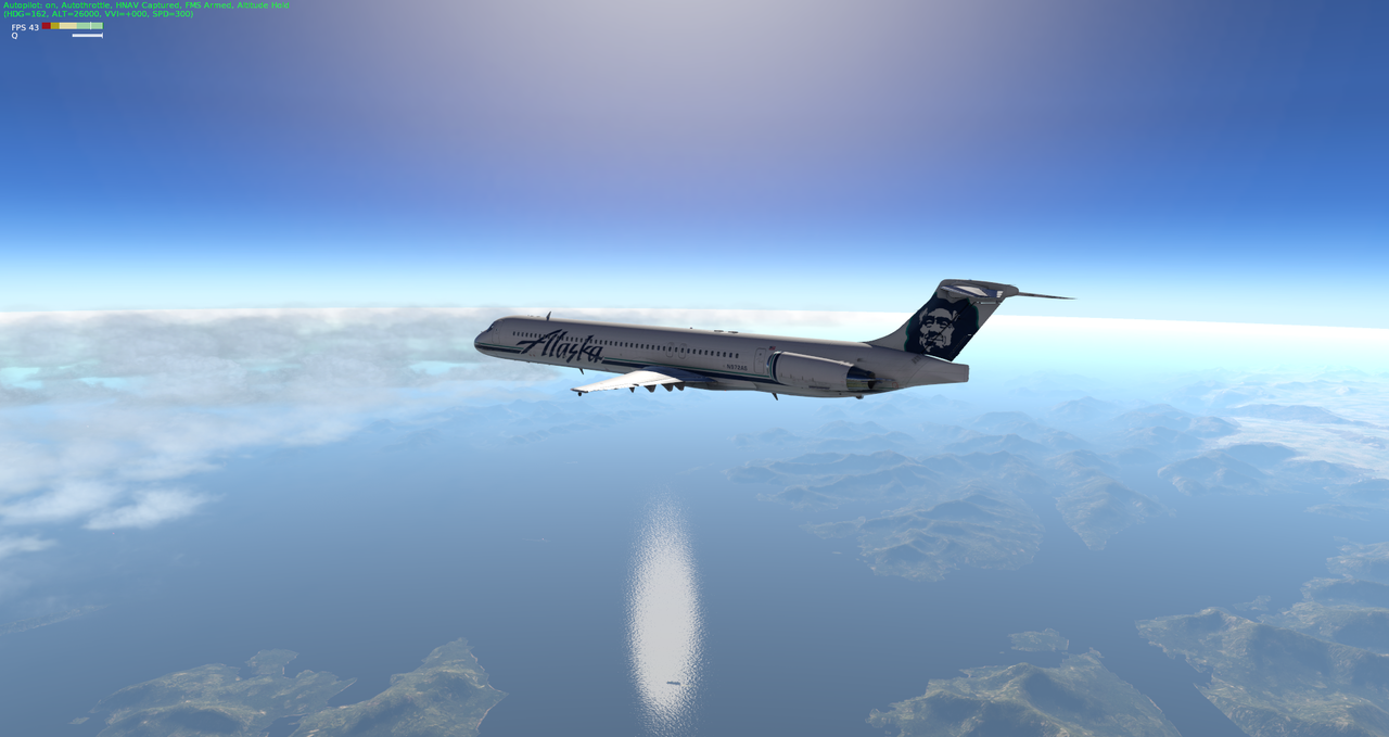 Mit der Default MD-82 von Anchorage nach Ketchikan 33962355zu