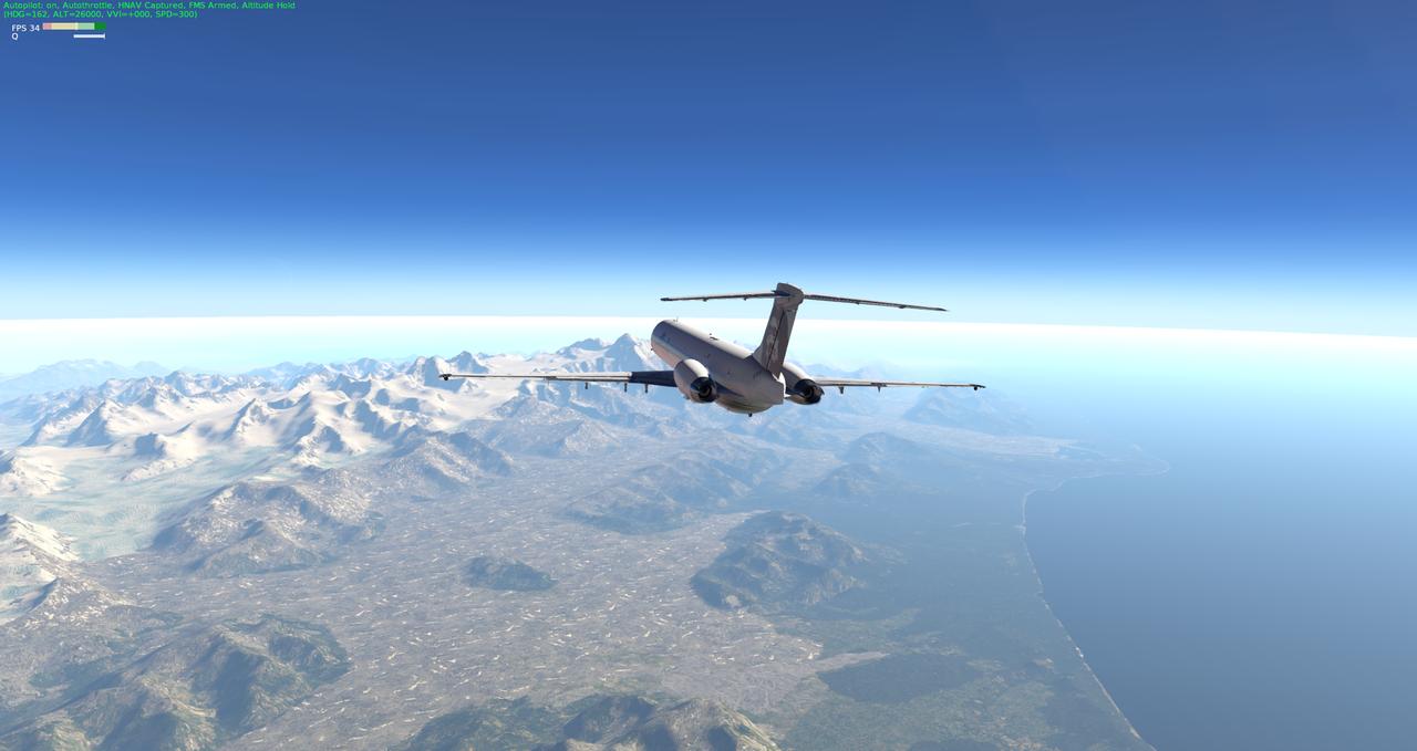 Mit der Default MD-82 von Anchorage nach Ketchikan 33962357je