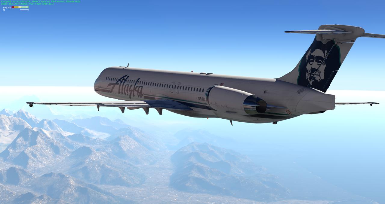 Mit der Default MD-82 von Anchorage nach Ketchikan 33962360rw