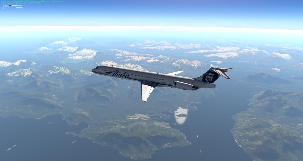 Mit der Default MD-82 von Anchorage nach Ketchikan 33962367ni
