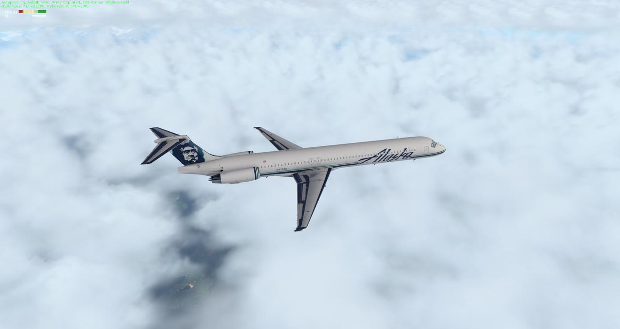Mit der Default MD-82 von Anchorage nach Ketchikan 33962393au