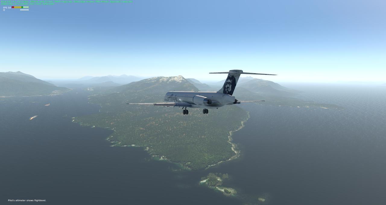 Mit der Default MD-82 von Anchorage nach Ketchikan 33962398qt